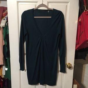 Tahari Silk and Cashmere Sweater Dress